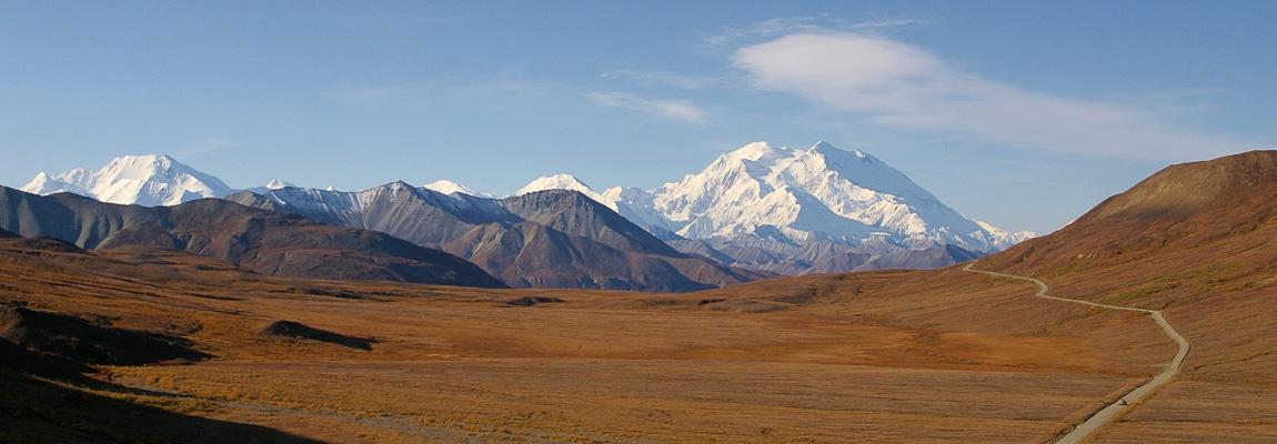 Trailheads zeigt Berge und Gletscher